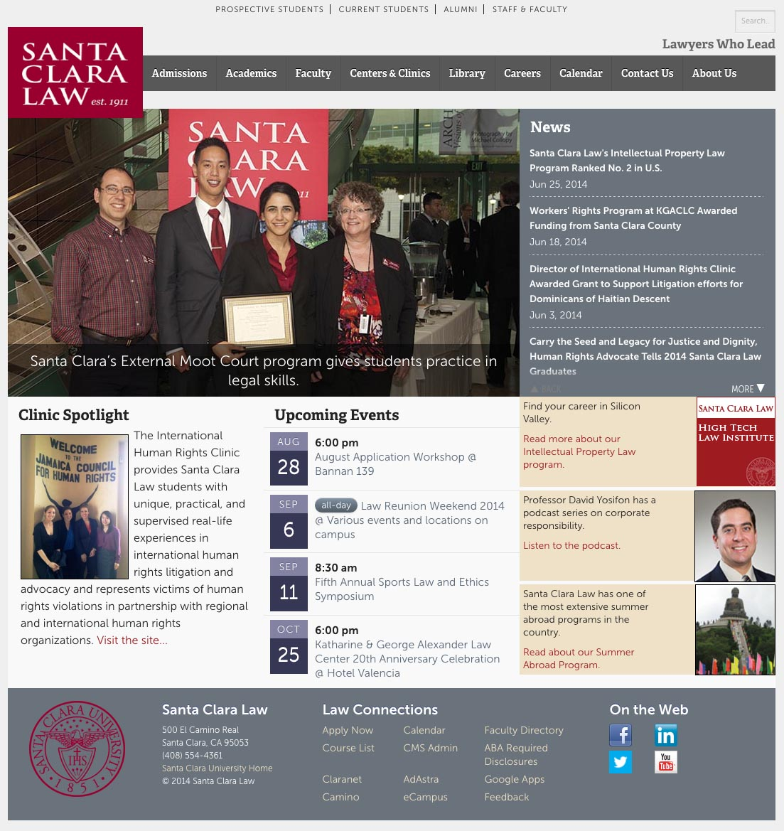 Santa Clara Law - old homepage