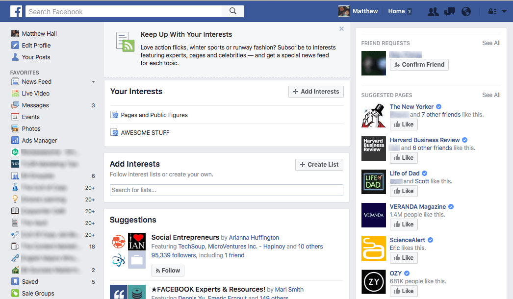 facebook interests revamp